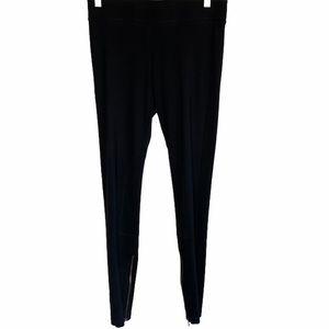CAbi Black ponte knit ankle zipper leggings